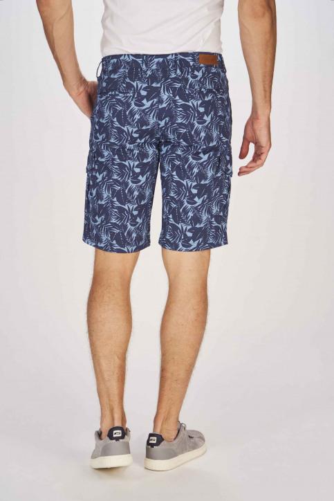 BRUCE & BUTLER Shorts bleu BRB191MT 002_SEA CAMEO LEAF img3