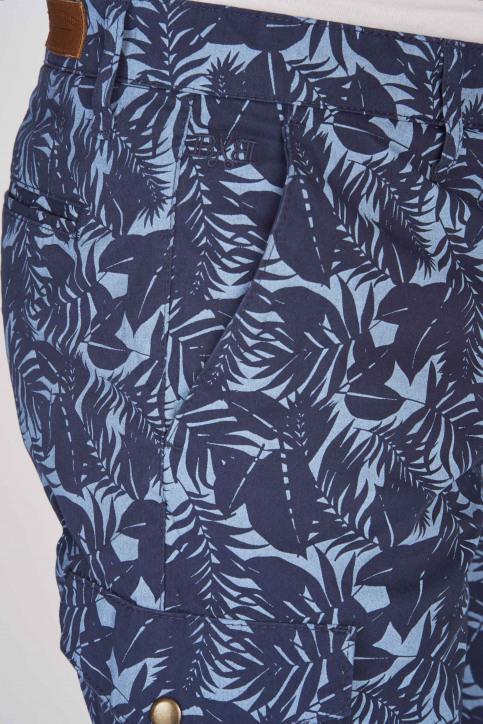 BRUCE & BUTLER Shorts bleu BRB191MT 002_SEA CAMEO LEAF img4