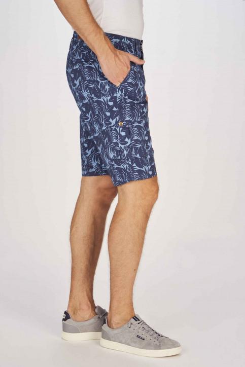 BRUCE & BUTLER Shorts bleu BRB191MT 002_SEA CAMEO LEAF img6