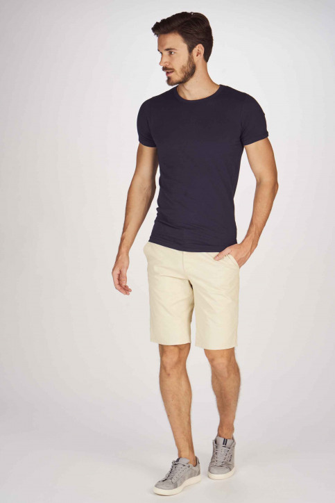 BRUCE & BUTLER Shorts beige BRB191MT 005_WHITE PEPPER img2
