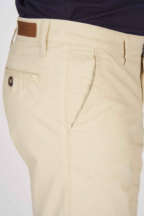 BRUCE & BUTLER Shorts beige BRB191MT 005_WHITE PEPPER img4