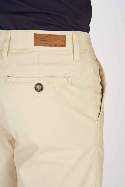 BRUCE & BUTLER Shorts beige BRB191MT 005_WHITE PEPPER img5