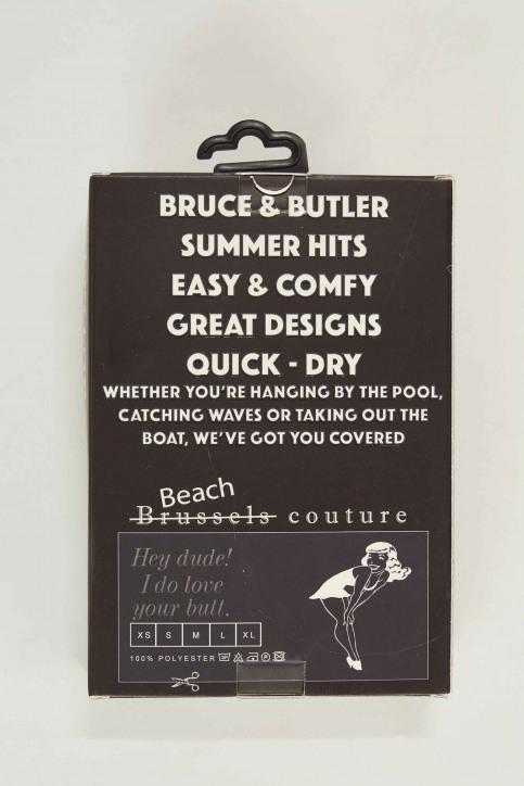 BRUCE & BUTLER Slips de bain noir BRB191MT 007_BLACK img5