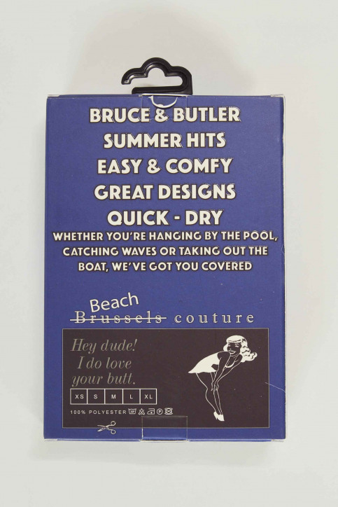 BRUCE & BUTLER Zwembroeken blauw BRB191MT 007_ELECTRIC BLUE img5
