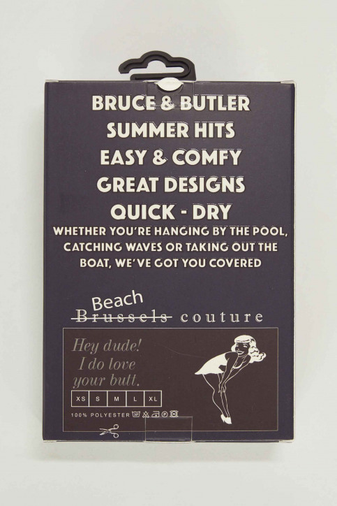 Bruce & Butler Slips de bain bleu BRB191MT 007_NAVY BLUE img5