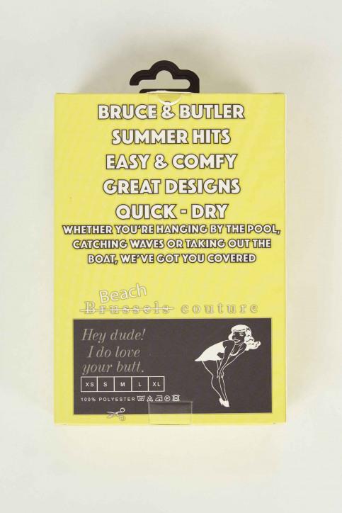 BRUCE & BUTLER Zwembroeken geel BRB191MT 007_NEON YELLOW img5