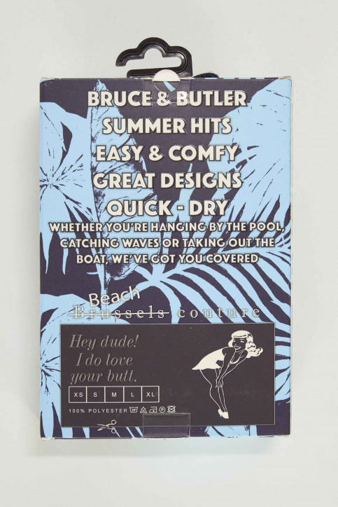 Bruce & Butler Zwembroeken blauw BRB191MT 008_PALM img5