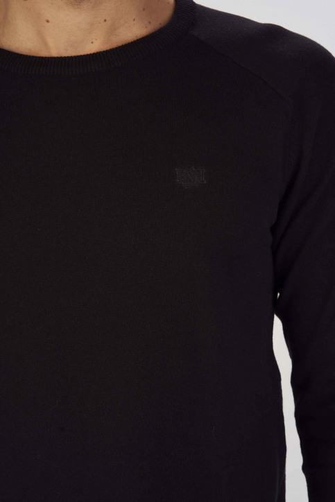 BRUCE & BUTLER Truien met ronde hals zwart BRB193MT 001_BLACK img4