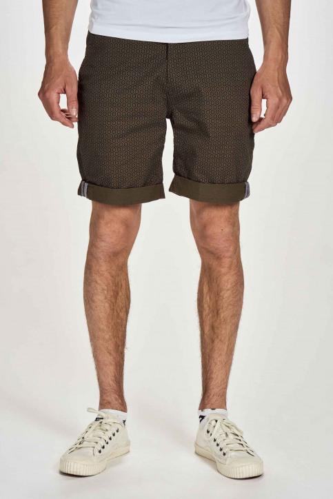 BRUCE & BUTLER Shorts groen BRB201MT 024_OLIVE FOULARD img1