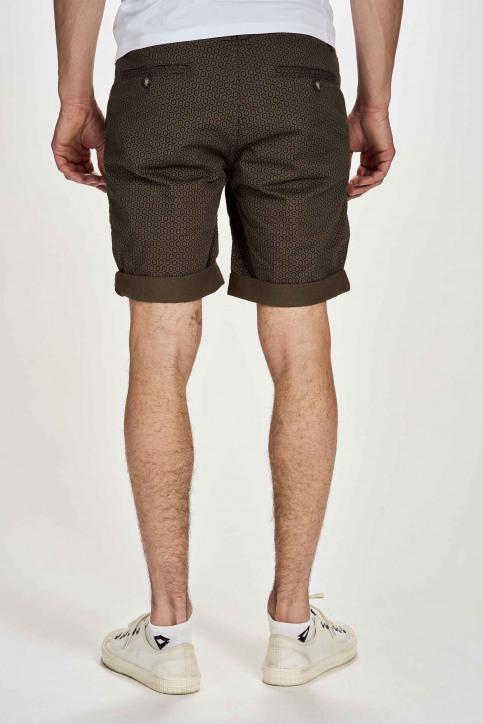 BRUCE & BUTLER Shorts groen BRB201MT 024_OLIVE FOULARD img2