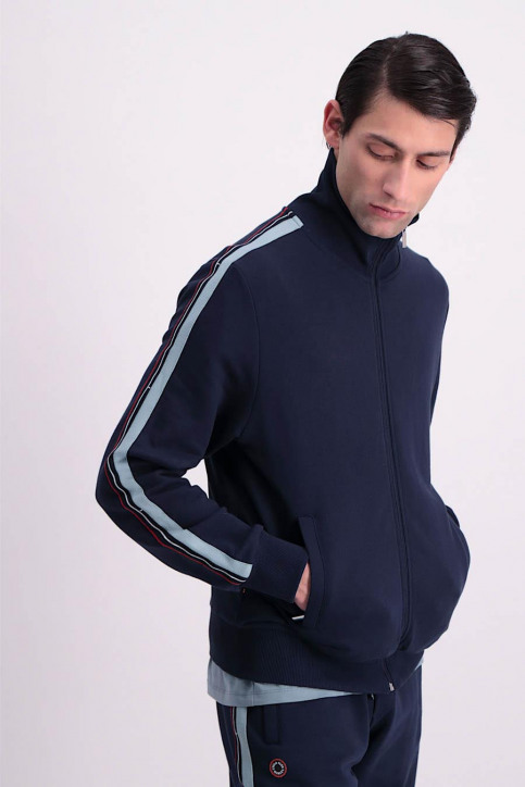 Cyclo Club Marcel Sweaters (gilet) blauw CCM GIL TRACK SUIT_NAVY BLUE img4