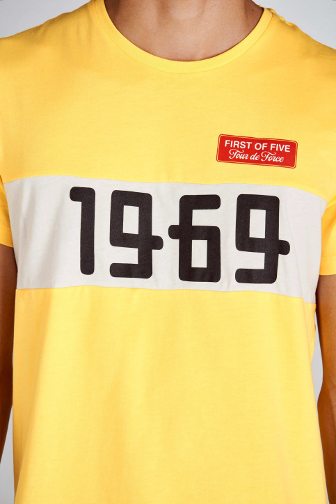 Cyclo Club Marcel T-shirts (korte mouwen) geel CCM192MT 006_BRIGHT YELLOW img3