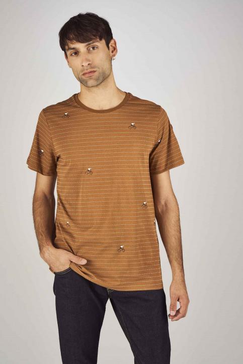 Cyclo Club Marcel T-shirts (korte mouwen) bruin CCM192MT 011_RUBBER img1