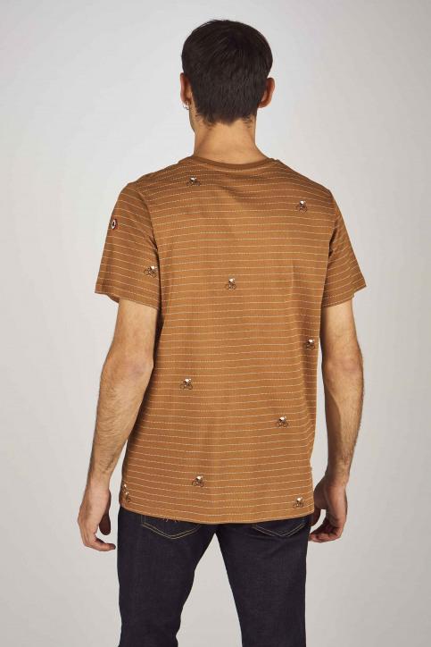 Cyclo Club Marcel T-shirts (korte mouwen) bruin CCM192MT 011_RUBBER img3