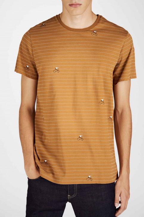 Cyclo Club Marcel T-shirts (korte mouwen) bruin CCM192MT 011_RUBBER img5