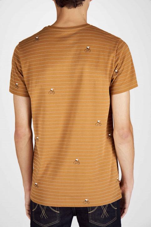 Cyclo Club Marcel T-shirts (korte mouwen) bruin CCM192MT 011_RUBBER img6