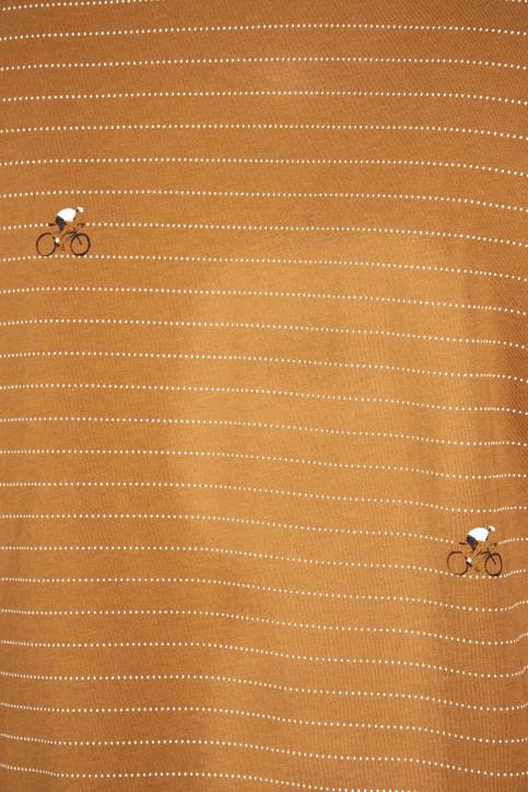 Cyclo Club Marcel T-shirts (korte mouwen) bruin CCM192MT 011_RUBBER img7