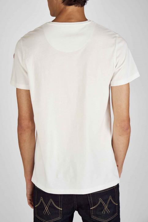 Cyclo Club Marcel T-shirts (korte mouwen) wit CCM192MT 019_VANILLA ICE img2