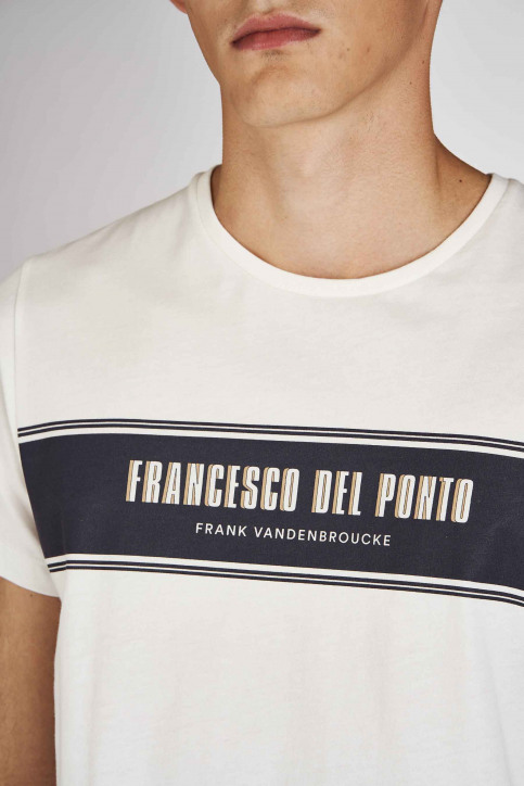 Cyclo Club Marcel T-shirts (korte mouwen) wit CCM192MT 019_VANILLA ICE img3