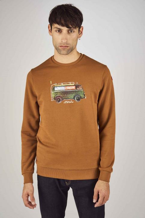 Cyclo Club Marcel Sweaters met ronde hals bruin CCM192MT 031_RUBBER img1