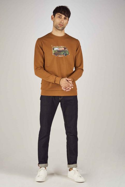 Cyclo Club Marcel Sweaters met ronde hals bruin CCM192MT 031_RUBBER img2
