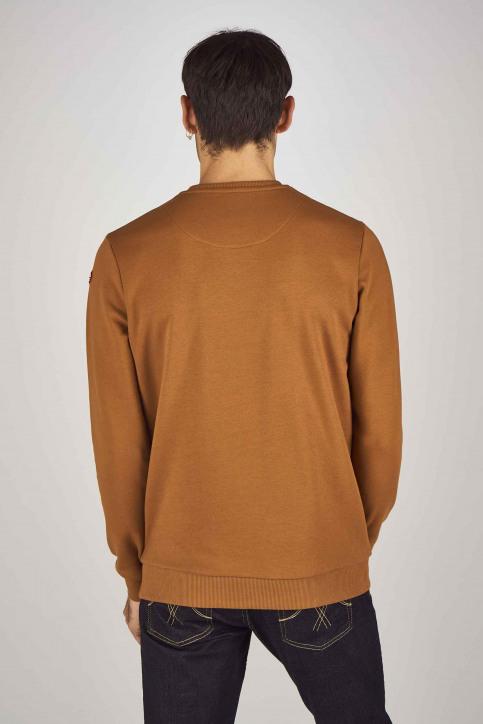 Cyclo Club Marcel Sweaters met ronde hals bruin CCM192MT 031_RUBBER img3