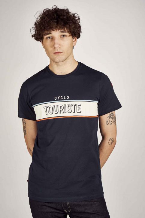Cyclo Club Marcel T-shirts (korte mouwen) blauw CCM201MT 006_NAVY img1