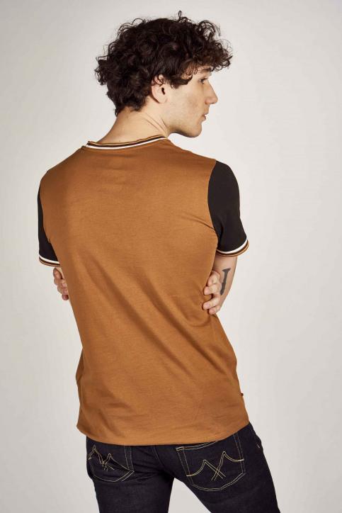 Cyclo Club Marcel T-shirts (korte mouwen) bruin CCM201MT 009_RUBBER img3