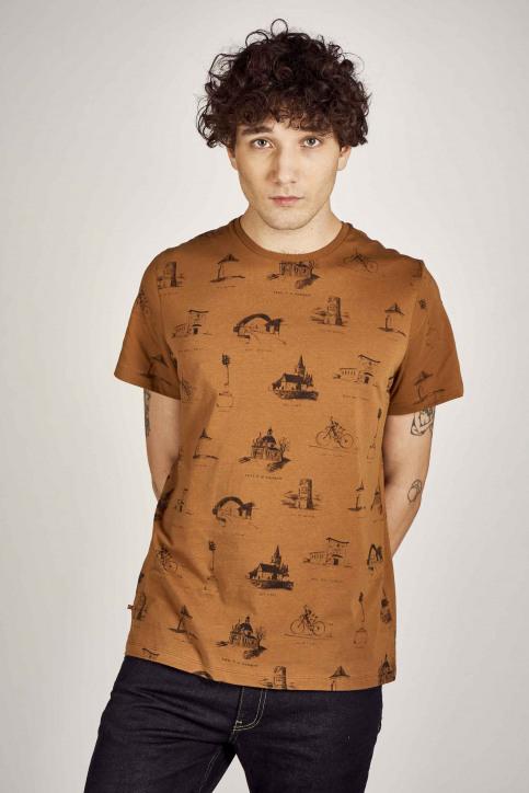 Cyclo Club Marcel T-shirts (korte mouwen) bruin CCM201MT 032_RUBBER img1