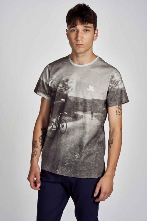 Cyclo Club Marcel T-shirts (korte mouwen) grijs CCM202MT 001_DARK GREY img1
