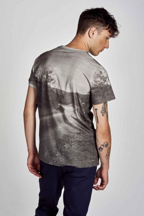 Cyclo Club Marcel T-shirts (korte mouwen) grijs CCM202MT 001_DARK GREY img3