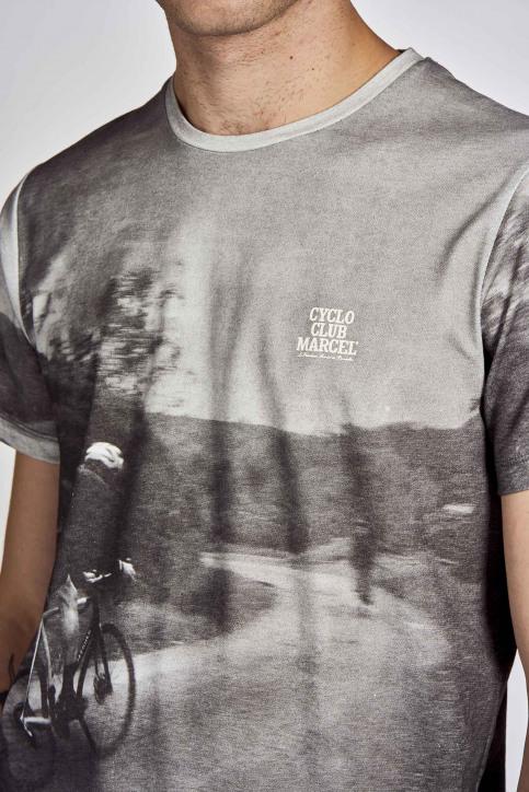Cyclo Club Marcel T-shirts (korte mouwen) grijs CCM202MT 001_DARK GREY img4
