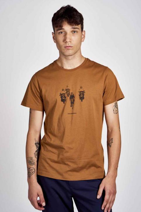 Cyclo Club Marcel T-shirts (korte mouwen) bruin CCM202MT 002_RUBBER img1