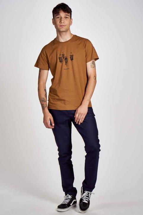 Cyclo Club Marcel T-shirts (korte mouwen) bruin CCM202MT 002_RUBBER img2