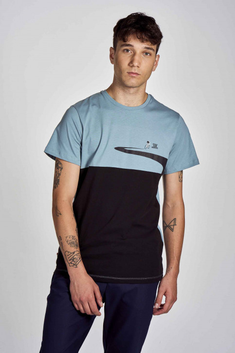 Cyclo Club Marcel T-shirts (korte mouwen) blauw CCM202MT 003_CITADELLE img1