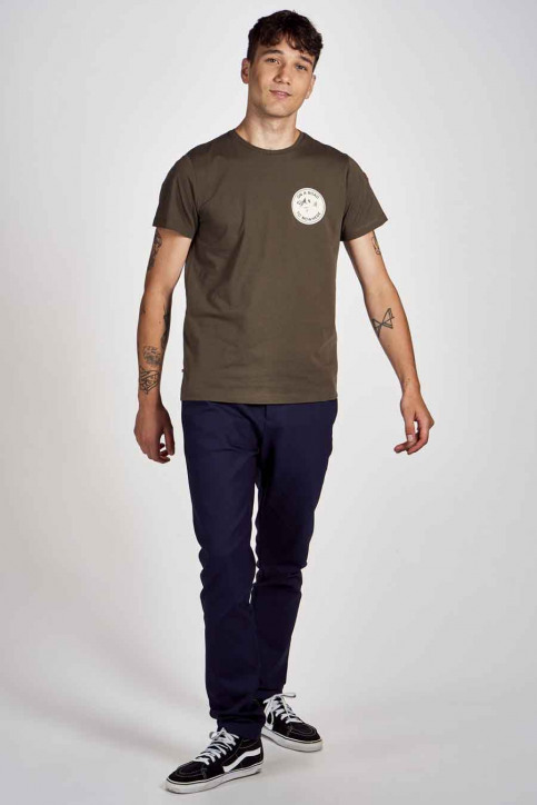 Cyclo Club Marcel T-shirts (korte mouwen) groen CCM202MT 008_KHAKI GREEN img2