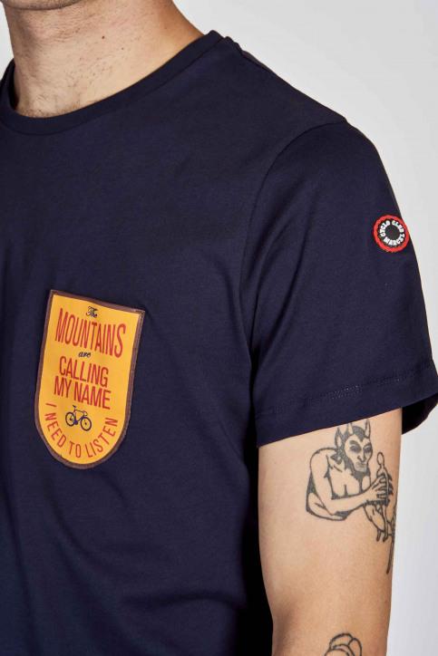 Cyclo Club Marcel T-shirts (korte mouwen) blauw CCM202MT 009_NAVY BLAZER img4