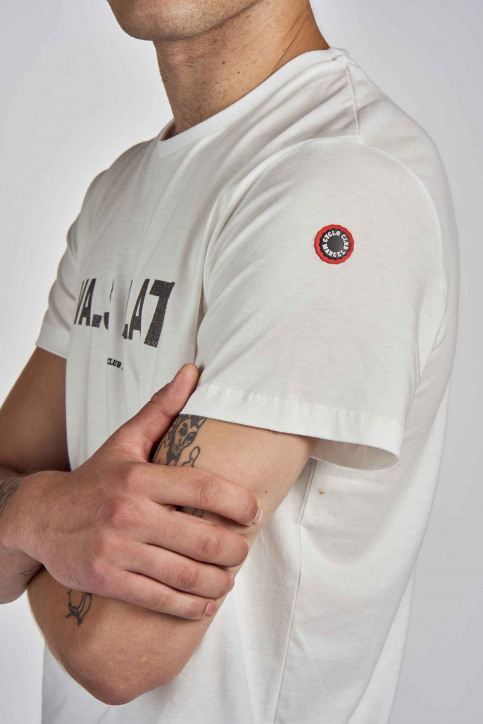 Cyclo Club Marcel T-shirts (korte mouwen) wit CCM202MT 010_VANILLA img4