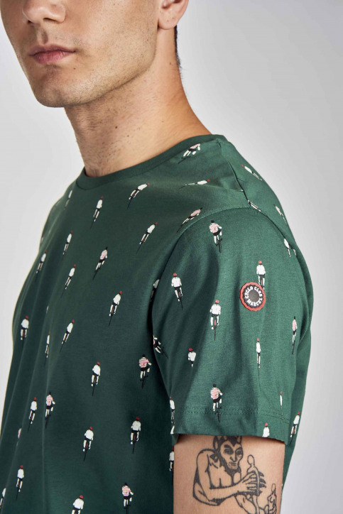Cyclo Club Marcel T-shirts (korte mouwen) groen CCM202MT 013_POSY GREEN img4