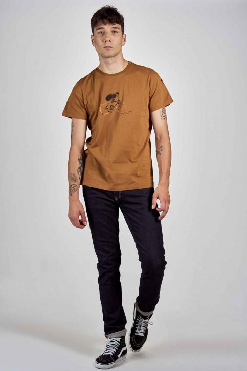 Cyclo Club Marcel T-shirts (korte mouwen) bruin CCM202MT 015_RUBBER img2