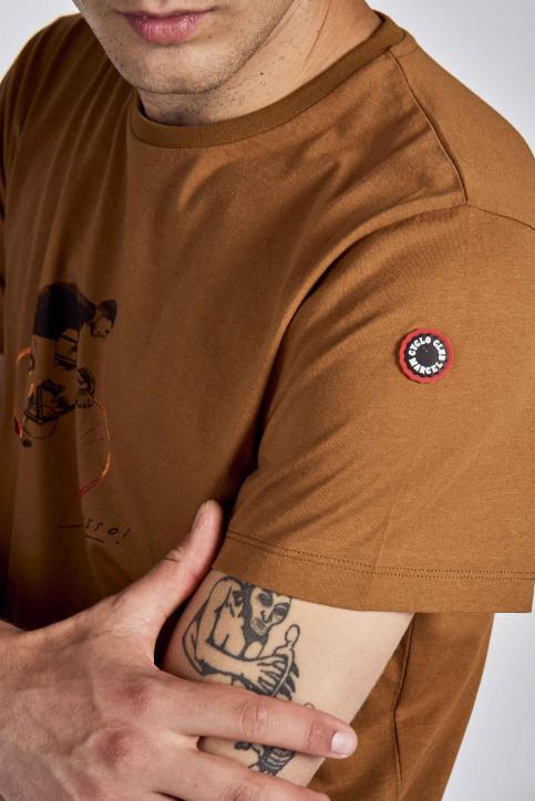 Cyclo Club Marcel T-shirts (korte mouwen) bruin CCM202MT 015_RUBBER img4