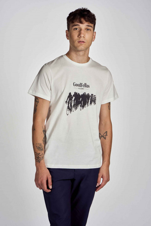 Cyclo Club Marcel T-shirts (korte mouwen) wit CCM202MT 016_VANILLA img1