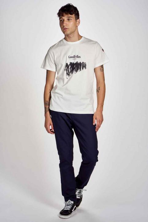 Cyclo Club Marcel T-shirts (korte mouwen) wit CCM202MT 016_VANILLA img2