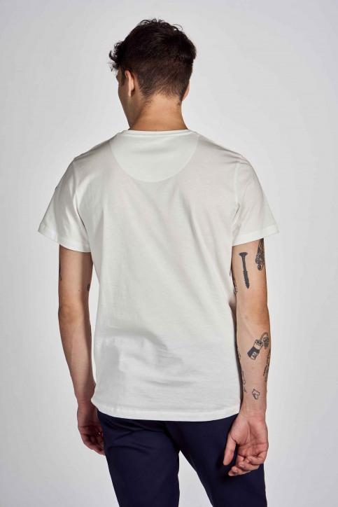 Cyclo Club Marcel T-shirts (korte mouwen) wit CCM202MT 016_VANILLA img3