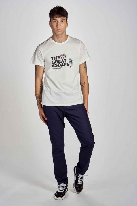 Cyclo Club Marcel T-shirts (korte mouwen) wit CCM202MT 017_VANILLA img2