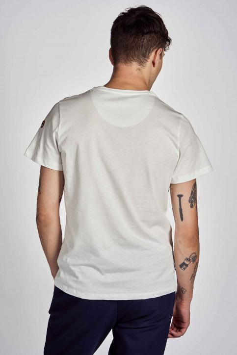 Cyclo Club Marcel T-shirts (korte mouwen) wit CCM202MT 017_VANILLA img3