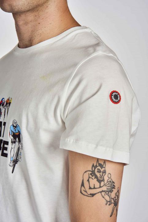 Cyclo Club Marcel T-shirts (korte mouwen) wit CCM202MT 017_VANILLA img4