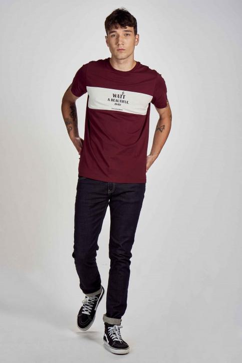 Cyclo Club Marcel T-shirts (korte mouwen) bordeaux CCM202MT 019_BORDEAUX img2