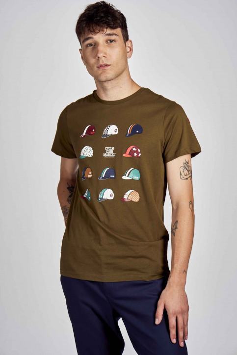 Cyclo Club Marcel T-shirts (korte mouwen) groen CCM202MT 020_KHAKI GREEN img1