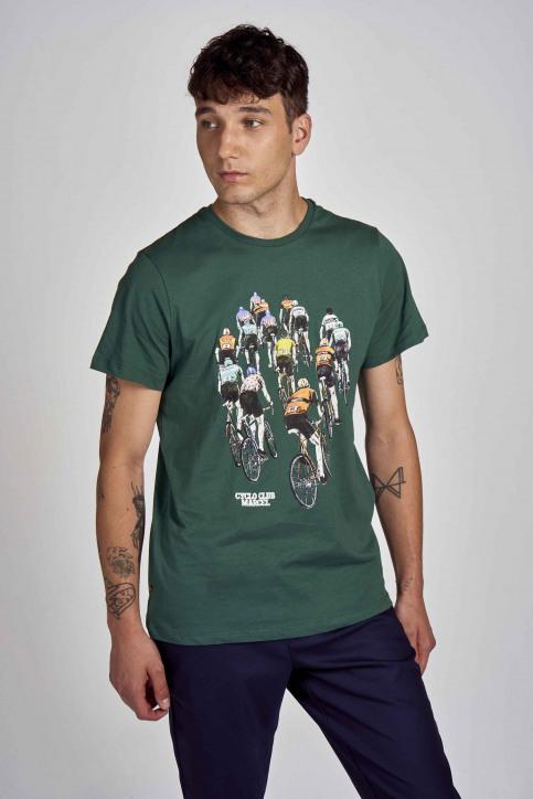 Cyclo Club Marcel T-shirts (korte mouwen) groen CCM202MT 021_POSY GREEN img1